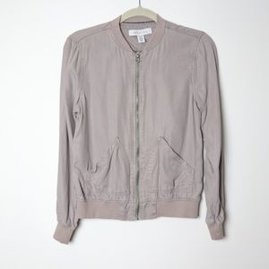 Kenneth Cole | Taupe Chambray Bomber Jacket